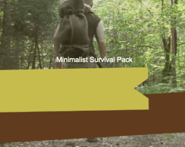 Minimalist survival pack for 72 hour survival
