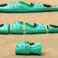 Survival kayaking has become a reality now that you can assemble and collapse your kayak in minutes and carry it on your back.