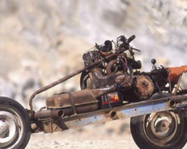 Mad Max style survival motorcycle