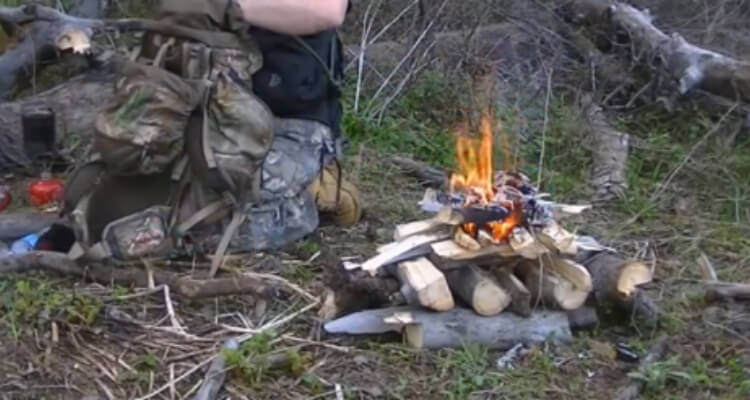 Good tutorial on making a long burning upside down campfire