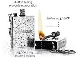 The Everstryke Match strikes at 3000 degrees Fahrenheit